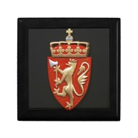 ANCIENT EUROPEAN COURT OF ARMS KEEPSAKE BOXES