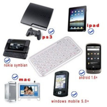 Ultra Slim Mini Bluetooth Keyboard For Iphone Android OS PC PS3 IPDA Mouse Accessories C871B [7650413249]