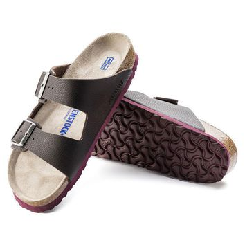 Sale Birkenstock Arizona Soft Footbed Birko Flor Embossed Desert Soil Espresso 1005712