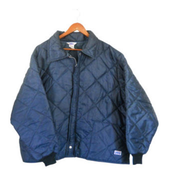 Puffer Coat 3X Men Winter Coat Men Winter Jacket Big Smith Nylon Coat Blue Coat Puff Coat Puffy Coat Retro Coat 70s Winter Coat Quilted Coat