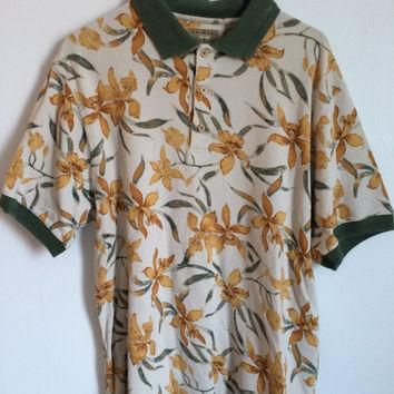 Hawaiian Floral Polo Shirt