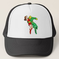 SpaceHawk Rescues The Earth Girl Trucker Hat