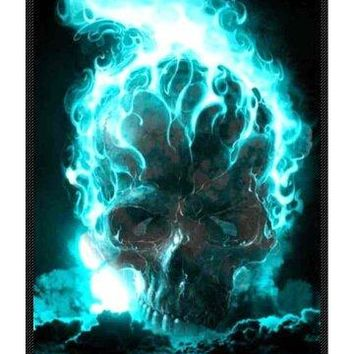 Skull Super Soft Fleece Blanket 58 Inches X 80 Inches (Large)