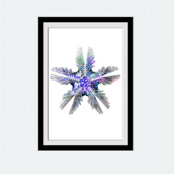 Starfish watercolor print Starfish decor art Nautical wall decor Nautical nursery poster Home decoration gift Kids room art Wall decor  W197