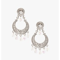 silver Forever Lovely Earrings | $3.50 | Cheap Trendy Earrings Chic Discount Fashion for Women | Mo