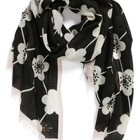 kate spade new york 'festive flower' embellished scarf | Nordstrom