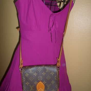 Authentic Louis Vuitton Monogram Canvas Cartouchiere Crossbosy Shoulder Bag