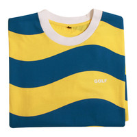 WAVY STRIPE TEE BLUE/YELLOW/WHITE