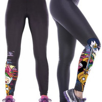 3D Adventure Time Yoga Leggings