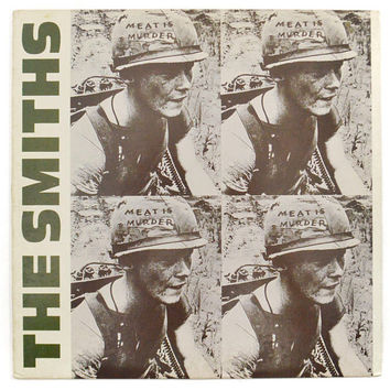 Vintage 80s The Smiths Meat is Murder New Wave Alternative Album Record Vinyl LP