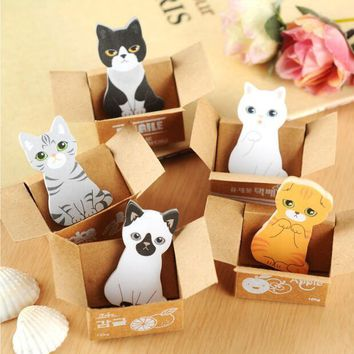 Cute Creative Kawaii Memo Pads Sticky Paper Note Paper Memo Pads Note Pad DIY School & Office Stationery lovely kitten House