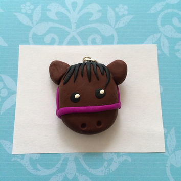 Polymer clay horse charm