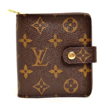 Authentic LOUIS VUITTON Monogram Compact Zip Bifold Wallet M61667