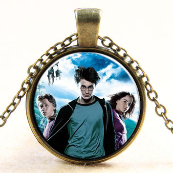 Jewelry Shiny Stylish Gift New Arrival Harry Potter Design Pendant Gemstone Necklace [6256266502]