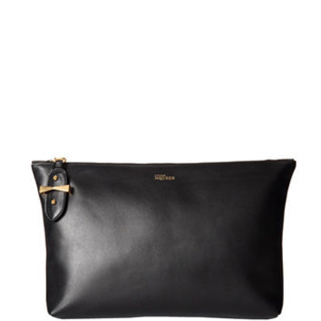 Alexander McQueen Medium Zip Top Leather Clutch