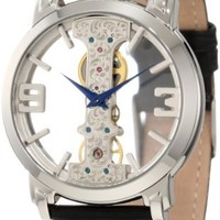 Stuhrling Original Men's 165E.33152 Classic Winchester Spire Mechanical Skeleton Silver Tone Watch