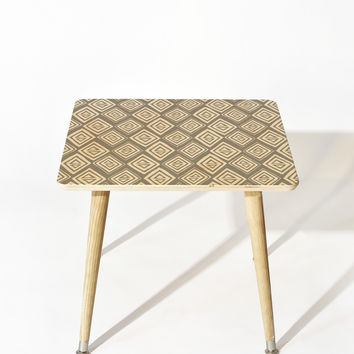 Heather Dutton Diamond In The Rough Grey Side Table