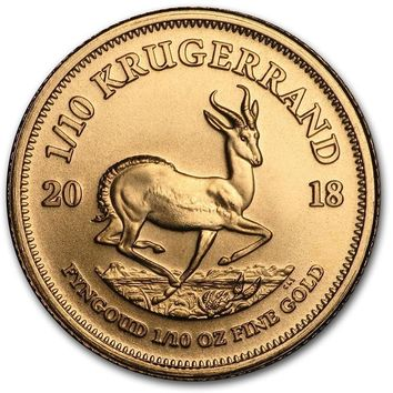 2018 South Africa 1/10 oz Gold Krugerrand