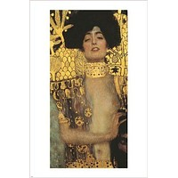 gustav klimt GUIDITTA I 1901 gold on canvas VINTAGE ART POSTER 24X36 rare