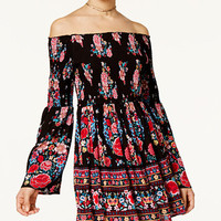 American Rag Off-The-Shoulder Floral-Print Fit & Flare Dress, Only at Macy's | macys.com