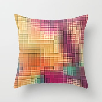 Colored Tetris Throw Pillow by Jbjart | Society6