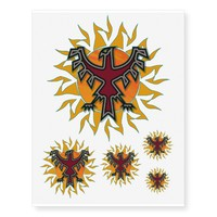 Thunderbird Sun 2 Temporary Tattoos