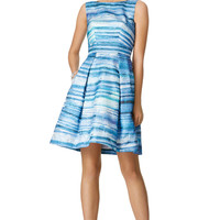 Theia Blue Gradient Dress