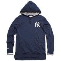 New York Yankees Seal The Win Hooded Longsleeve Shirt Heather Navy