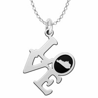 Kentucky Love Necklace in Solid Sterling Silver
