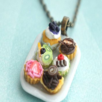 cupcake sampler necklace