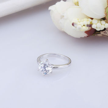Shiny Stylish Jewelry New Arrival Gift 925 Silver Accessory Star Ring [7652915335]