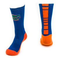 Mojo Florida Gators Champ 1/2-Cushion Performance Crew Socks - Men, Size: 10-13 (Blue)