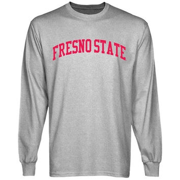 Fresno State Bulldogs University Arch Long Sleeve T-Shirt - Ash