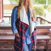 Plaid Last Vest  - Red