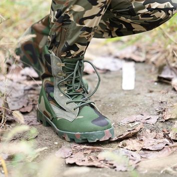 Men Tactical Military Army boots Outdoor Trekking Climbing Sports Sneakers Camo Shoe Men Combat Hiking Walking Shoes