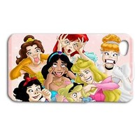Cute Disney Princess Funny Face Phone Case iPhone 4 4s 5 5s 5c 6 Plus iPod Cover