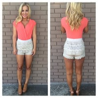 Crochet Turks And Caicos Romper - CORAL