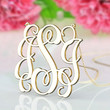 Monogram jewelry--1 inch gold plated monogram necklace personalized gift for mum
