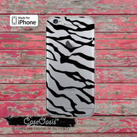 Tiger Stripes Black Animal Print Pattern Clear Phone Case For iPhone 6, iPhone 6 Plus +, iPhone 6s, iPhone 6s Plus +, iPhone 5/5s, iPhone 5c