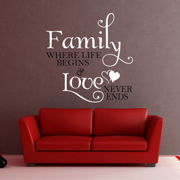 Family Wall Decal, Family Love Decal, Photo Wall Decal, Picture Wall Decal, Family Decor, Family Love Decal