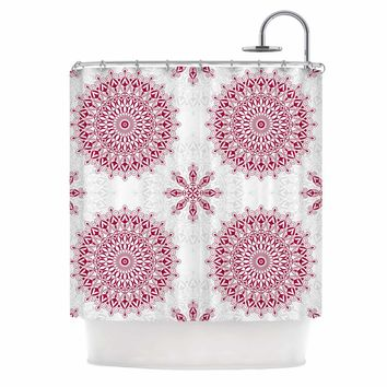Julia Grifol Geometric Mandalas Shower Curtain