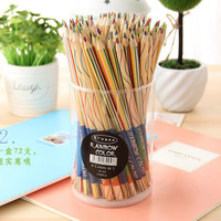 Cute Kawaii Wooden Rainbow Colored Pencil - Set of 5