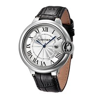 """Cartier"" Classic Trending Woman Men Stylish Movement Wristwatch Watch Black"