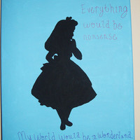 Alice in Wonderland Inspired Silhouette Quote by RosetteBelles
