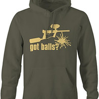 Shirts By Sarah Men's Men's Funny Paintball Got Balls Hoodie Baller Pullover