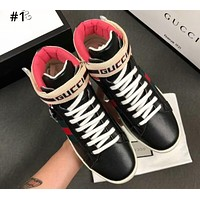 GUCCI new tide brand men and women models high help color matching shoes #1