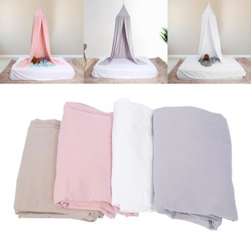 Cotton 6  Colors Dome Mosquito Net Princess Kids Baby Insect Bed Canopy Netting Round Mosquito Nets Curtain for Bedding