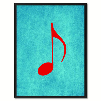 quaver music aqua canvas print pictures frames office home dcor
