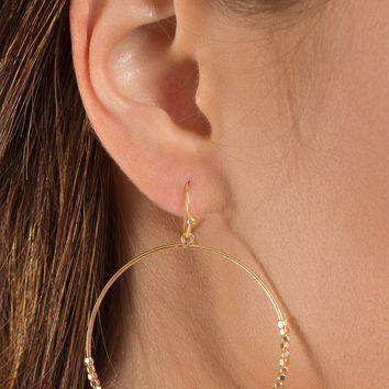 Bright Future Beaded Hoop Earrings