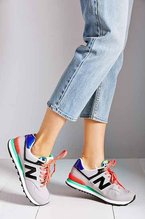 4b3723538 New Balance 574 Pop Tropical Running from Urban Outfitters